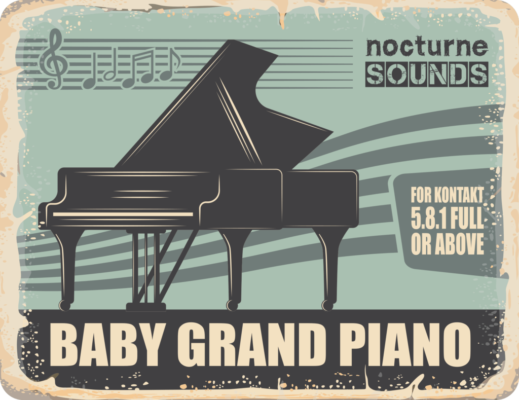 Nocturne Sounds Baby Grand Piano for Kontakt product graphic